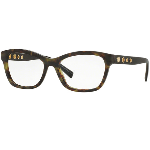Versace Women Eyeglasses Havana Military w/Demo Lens  VE3225 5183