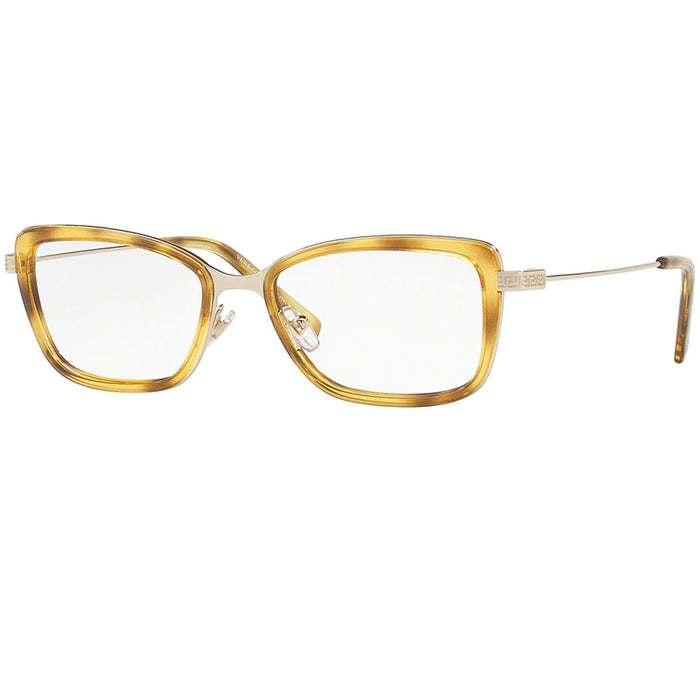 Versace Eyeglasses Pale Gold/Havana w/Demo Customisable Lens Women VE1243-1400-52