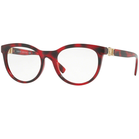 Versace Women Eyeglasses Havana/Red w/Demo Customisable Lens VE3247-5258-53