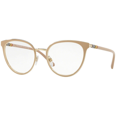 Burberry Cat Eye Women's Eyeglasses Beige / Light Gold Frame w/Demo Lens BE1324 1266