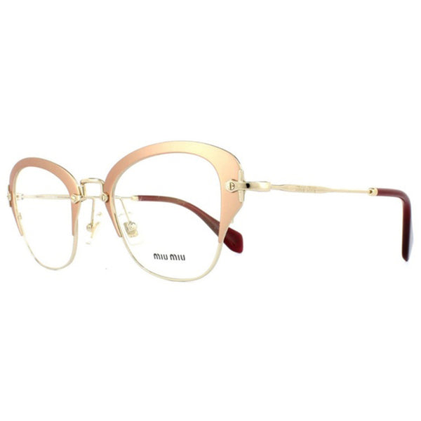 Miu Miu RX Cat Eye Women's Gold Eyeglasses - Side View