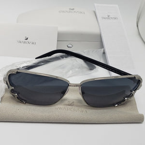 Swarovski Women's Aviator Sunglasses Blue Lens - Frame