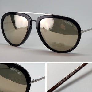 Tom Ford Aviator Unisex Sunglasses Light Gold Lens