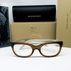 Burberry RX Square Women's Eyeglasses Demo Lens | Front View