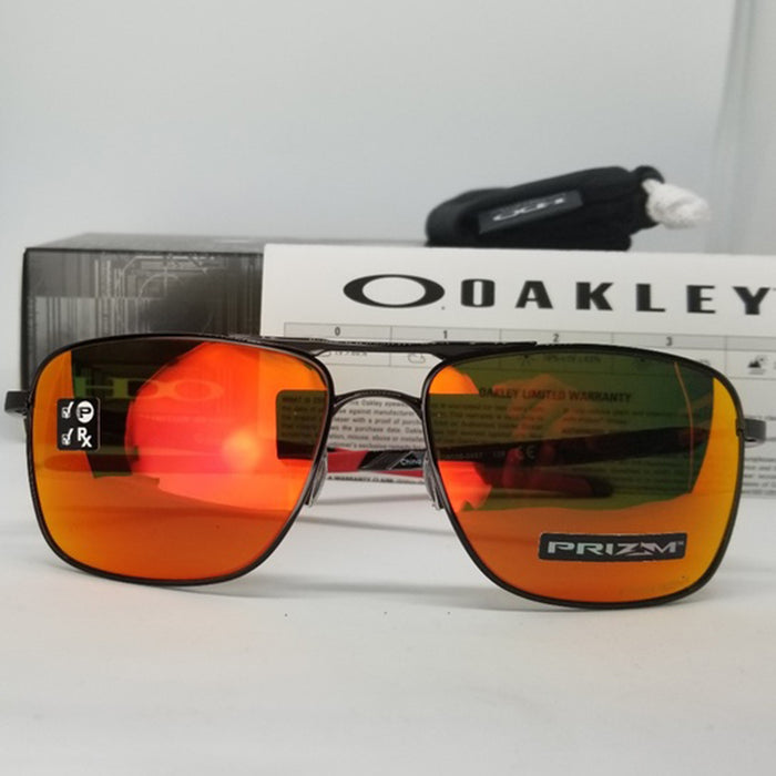 Oakley Men's Sunglasses W/Prizm Ruby Polarized Lens OO6038-0457