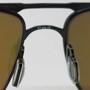 Oakley Pilot Sunglasses Men Prizm Ruby Lens - Bridge View