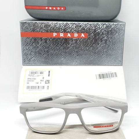 Prada Sports Eyeglasses Light Grey w/Demo Customisable Lens Unisex