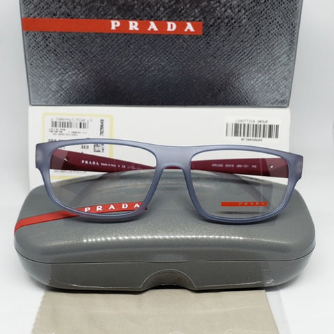 Prada Sports Eyeglasses Gray/Burgundy w/Demo Customisable Lens Unisex