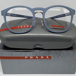 Prada Sports Light Blue Unisex Eyeglasses | Demo Lens