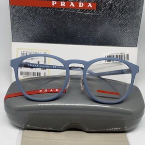 Prada Sports Light Blue Unisex Eyeglasses Demo Lens | Full View