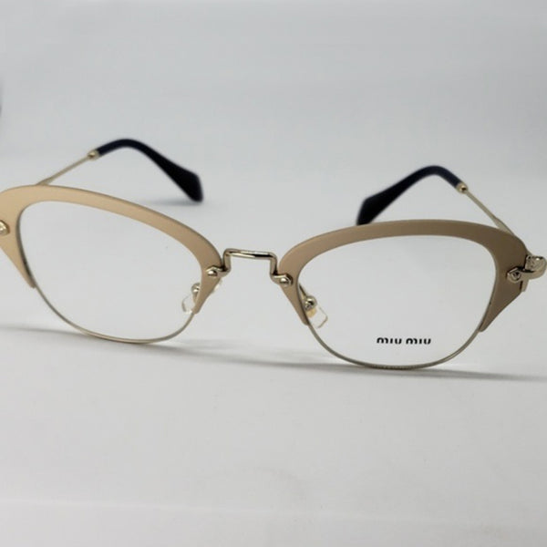 Miu Miu RX Cat Eye Women's Gold Eyeglasses - Full View