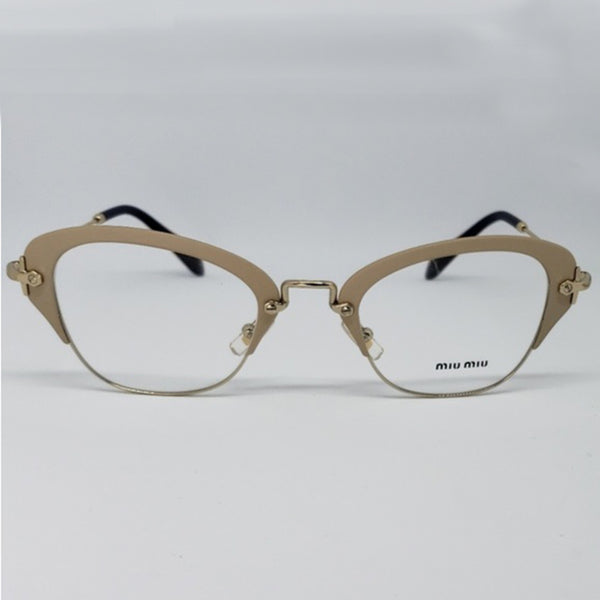 Miu Miu RX Cat Eye Women's Gold Eyeglasses - Front View
