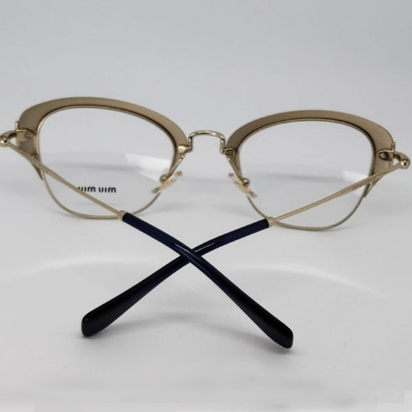 Miu Miu RX Cat Eye Women's Gold Eyeglasses - Back View