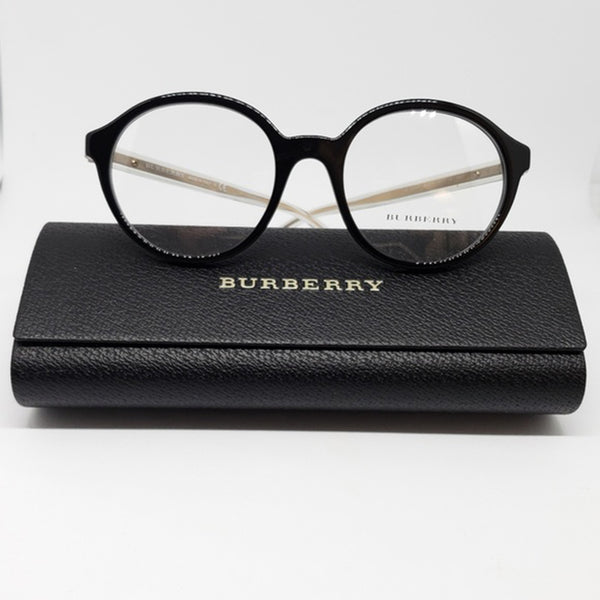 Burberry RX Round Eyeglasses Black Women's