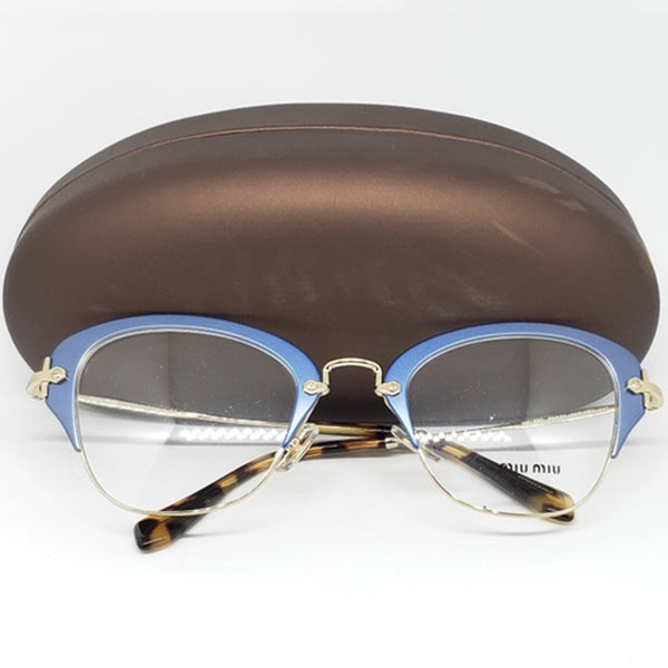 Miu Miu RX Cat Eye Women's Eyeglasses Demo Lens 50mm