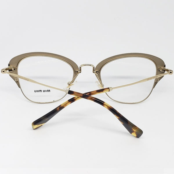 Miu Miu RX Cat Eye Women's Eyeglasses Demo Lens - Back View