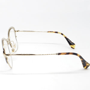 Miu Miu RX Cat Eye Women's Eyeglasses Demo Lens - Side View