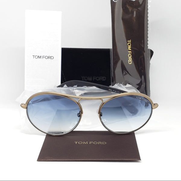 Tom Ford Round Unisex Sunglasses Blue Lens | Accessories
