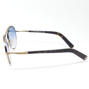 Tom Ford Round Unisex Sunglasses Blue Lens | Side Frame View