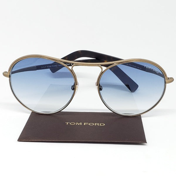 Tom Ford Round Unisex Sunglasses Blue Lens | Front View