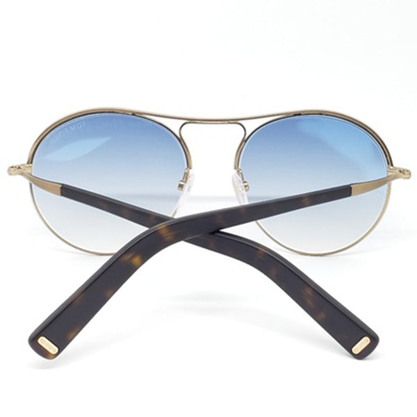 Tom Ford Round Unisex Sunglasses Blue Lens | Back Side View