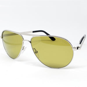 Tom Ford Marko Aviator Unisex Sunglasses Silver - Side View