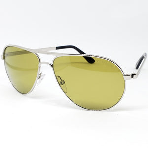 Tom Ford Marko Aviator Unisex Sunglasses Silver - Lens View