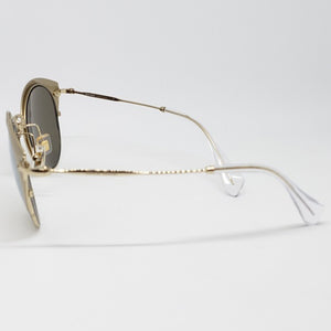 Miu Miu Women's Cat Eye Sunglasses Mirror Lens | Temple View