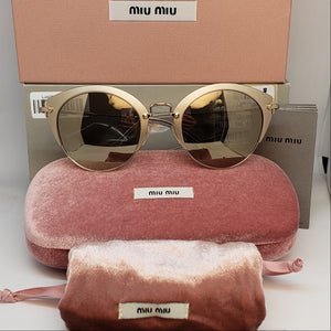 Miu Miu Women's Cat Eye Sunglasses Mirror Lens | Box
