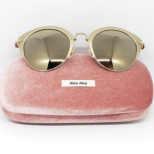 Miu Miu Women's Cat Eye Sunglasses Mirror Lens | Case