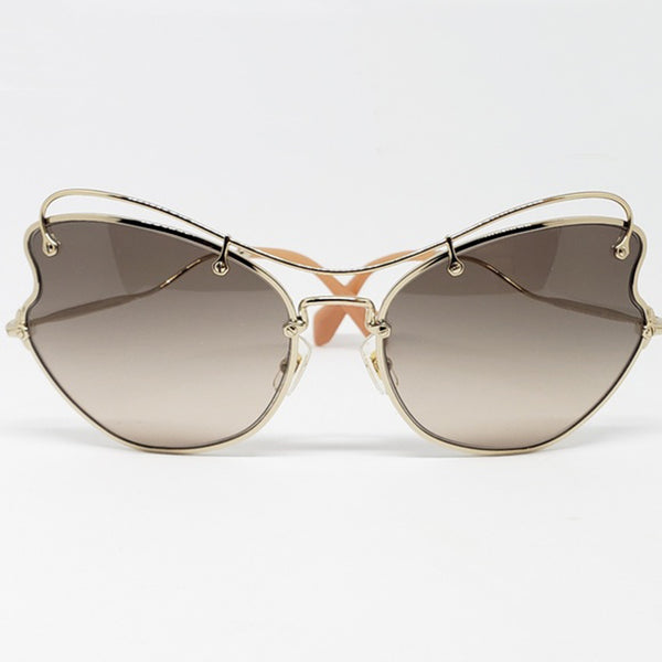 Miu Miu Butterfly Women's Sunglasses Brown Lens 61mm - Front