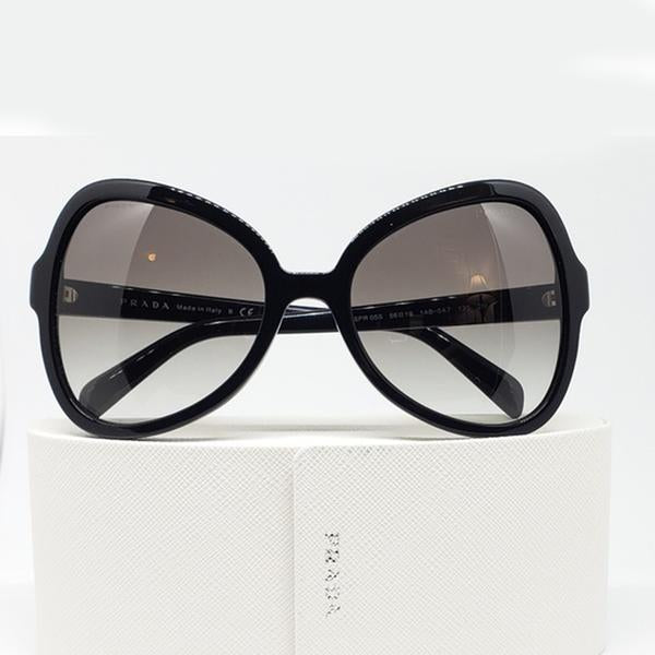 Prada Women's Butterfly Sunglasses Black w/Grey Lens PR05SS 1AB-0A7 56