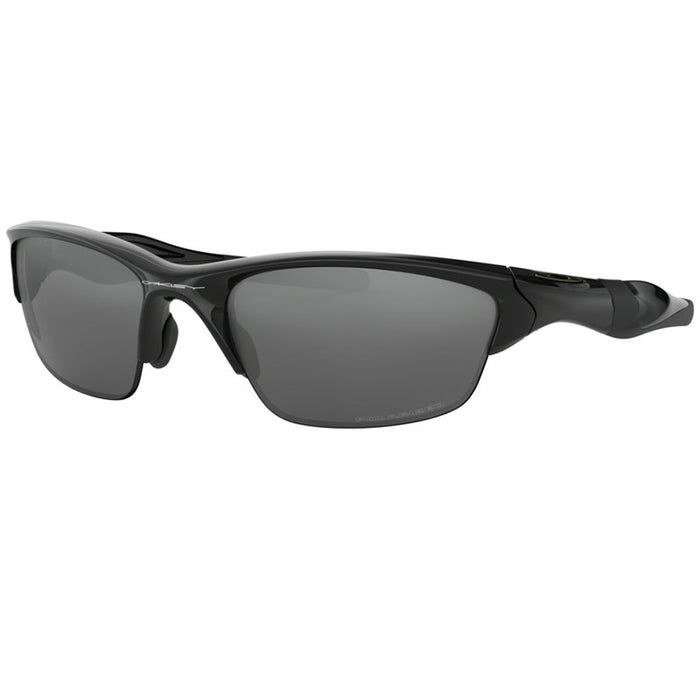 Oakley Half Jacket 2.0 Sunglasses Polished Black w/Black Iridium Polarized Lens Men OO9153 04