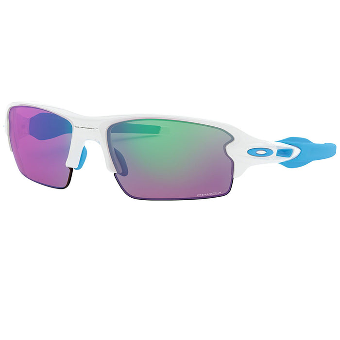 Oakley Men's Flak 2.0 Sunglasses Polished White w/Prizm Golf Lens  OO9271 17