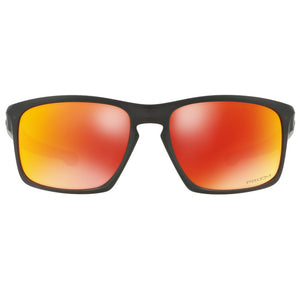 Oakley Silver Sunglasses Prizm Ruby Polarized Lens - Front