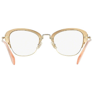 Miu Miu Cat Eye Frame Women Eyeglasses Demo Lens - Back