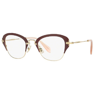 Miu Miu Cat Eye Frame Women Eyeglasses Demo Lens 50mm