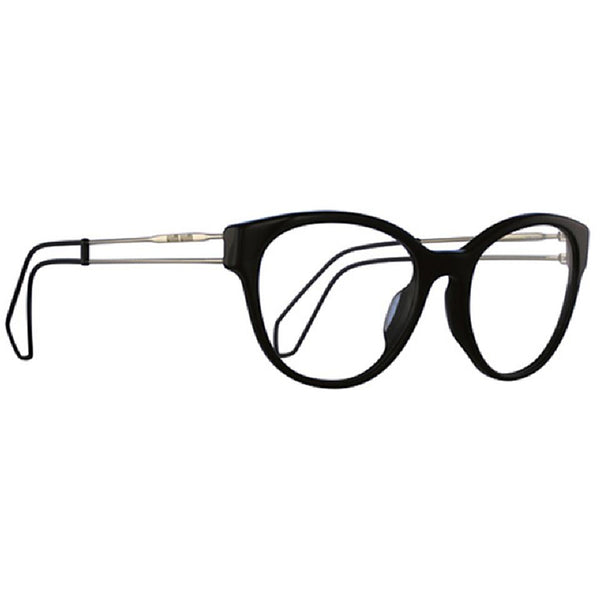 Miu Miu Cat Eye Women's Black Eyeglasses Demo Lens - Side