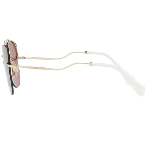 Miu Miu Butterfly Style Women Sunglasses Pink Lens | Left Side