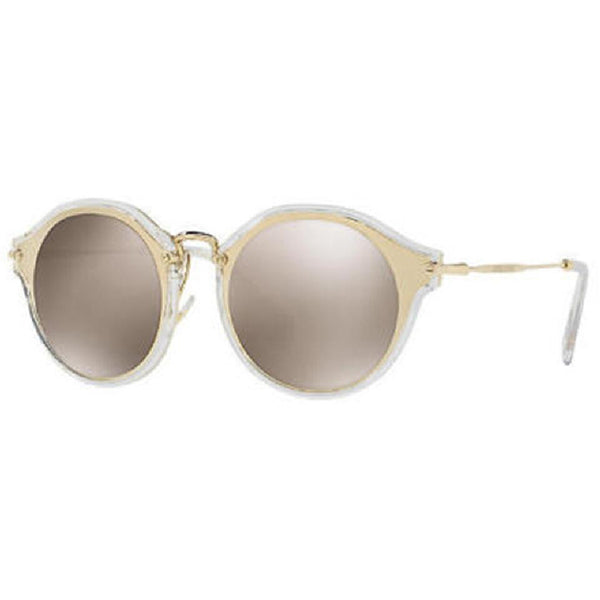 Miu Miu Round Women's Sunglasses Brown Lens - Side View