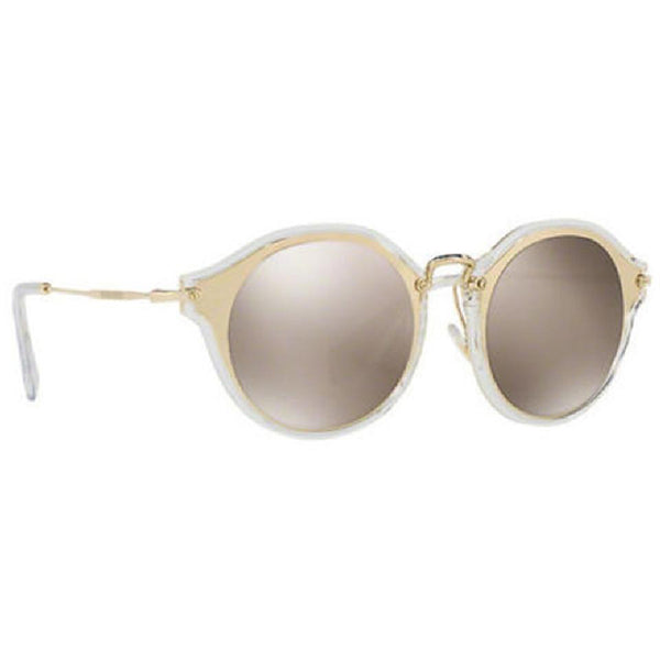 Miu Miu Round Women's Sunglasses Brown Lens - Full View