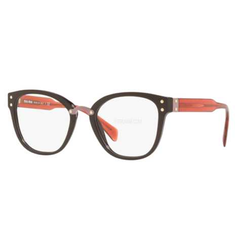 Miu Miu Women's Eyeglasses Brown w/Demo Lens MU04QV DH01O1
