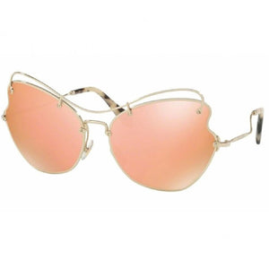 Miu Miu Butterfly Women's Sunglasses Rose Gold Lens