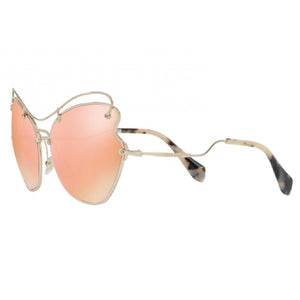 Miu Miu Butterfly Women Sunglasses Rose Gold Lens - Full View