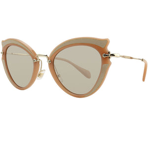 Miu Miu Ocher Cat Eye Women Sunglasses Light Brown Lens
