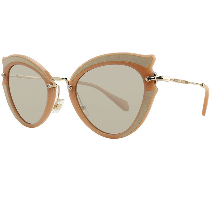 Miu Miu Ocher Sunglasses Beige w/Light Brown Lens Women MU05SS VHZ 5J2