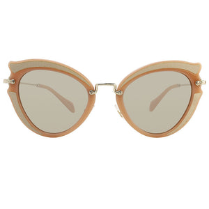 Miu Miu Ocher Cat Eye Women Sunglasses | Front Side View