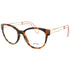 Miu Miu Cat Eye Women's Havana Eyeglasses Demo Lens