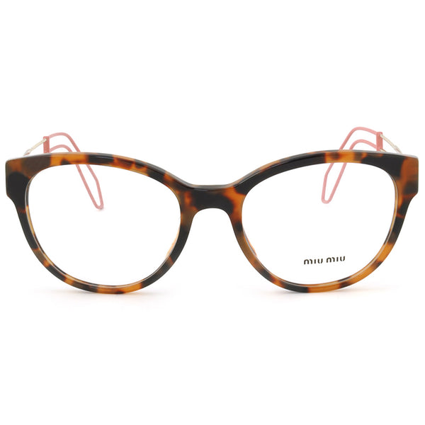 Miu Miu Cat Eye Women's Havana Eyeglasses Demo Lens - Front