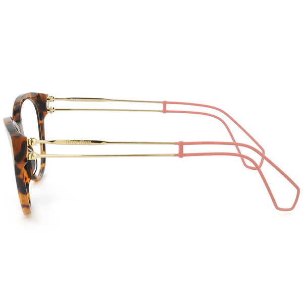 Miu Miu Cat Eye Women's Havana Eyeglasses - Left Side View